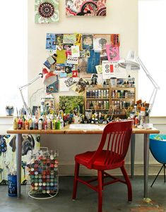 artist workspace. home office. photographer trevor dixon.