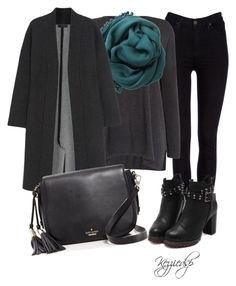 """""""Gray & Willow zanu side split jumper"""" by kezziedsp ❤ liked on Polyvore featuring Lee, Gray & Willow, Bajra, Calvin Klein Collection and Kate Spade"""