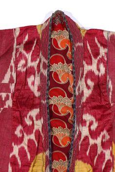 Sold Price: Antique Uzbek Silk Ikat Chapan Coat - February 4, 0121 10:00 AM EST