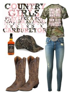 """Country girl"" by horses4ever1322 ❤ liked on Polyvore featuring rag & bone, Ariat and country"