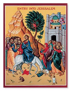 Vintage Palm Sunday Icon Religious Wall Art Jesus by junquegypsy, $18.20