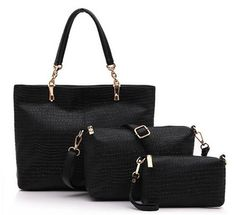 6ca78b1f25f Trendy Solid Color and Crocodile Print Design PU Leather Women's Shoulder  Bag. Cult Couture Fashions