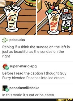I seriously thought for a second that Peaches got blended. Neko Atsume<<< With an Undertale twist ;3