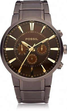 11af7ecd51e8 Fossil Others Brown Stainless Steel Men s Chronograph Watch   menswatchesfossil Time In The World