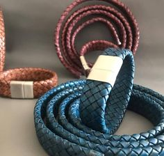 Widest collection of flat braided leather cord made from the finest quality of leather cords chosen from hides selected from Europe , USA and South America at wholesale prices.  #bracelets #accessories