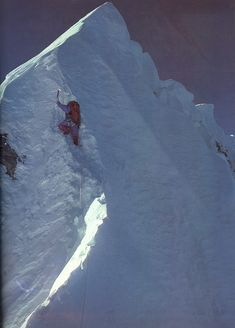 Dougal Haston near the Hillary Step - Legend - First ascent of the North West Face of Everest Alpine Climbing, Ice Climbing, Mountain Climbing, Bergen, Monte Everest, Climbing Everest, Snow Mountain, Top Of The World, Mountain Landscape