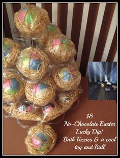 No Chocolate Easter gift for kids. BathBomb Lucky Dip with cool toy inside See Bebebelle Handmade Soap on Facebook to order