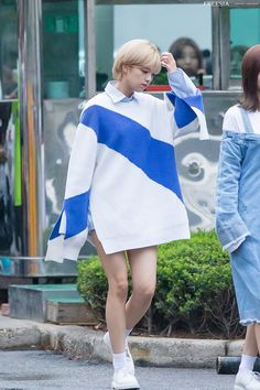 Official Korean Fashion : TWICE Jeongyeon Airport Fashion Kpop Outfits, Edgy Outfits, Girl Outfits, Fashion Outfits, Suwon, Kpop Fashion, Korean Fashion, South Korean Girls, Korean Girl Groups