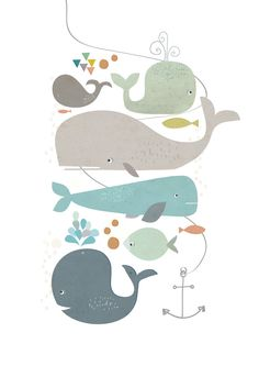 """Happy Whales"" from Paper Moon (via Things I Love)."