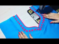 Latest Front Neck Design Cutting and Stitching - YouTube