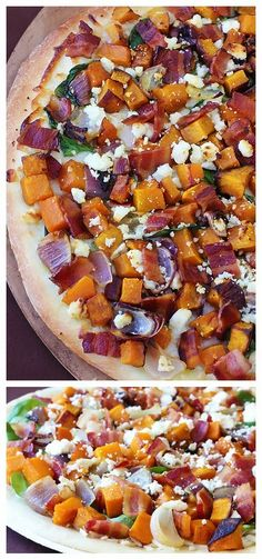 BUTTERNUT, BACON, SPINACH AND FETA PIZZA