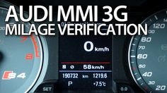 How to check correct #milage in #Audi #MMI 3G #A1 #A4 #A5 #A6 #A7 #A8 #Q3 #Q5 #Q7 #cars