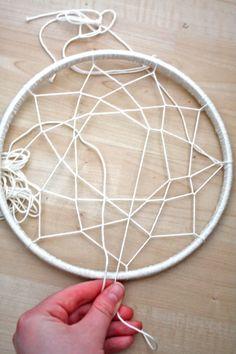 DIY Hula Hoop Dream Catcher | Primitive and Proper