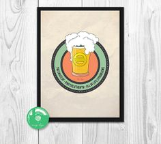 INSTANT DOWNLOAD  Beer Lover size A4 by MovingDesign on Etsy, $4.20