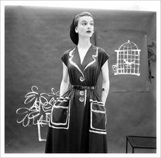 Gordon Parks – Painted Hermes Dresses, 1952 (via AQ-V» Top 15 of 2010 / Aqua-Velvet)