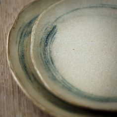 Ceramic Salad Plate with Circles in Blue by karanote on Etsy, $22.00