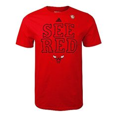 Chicago Bulls Mens See Red Tee: $24.99 #Bulls #SeeRed #NBA #Playoffs #NBAPlayoffs