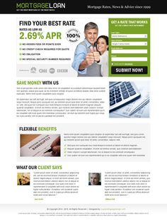 mortgage-loan-landing-page-design-011 | Mortgage landing page design preview.