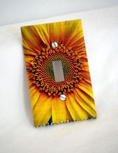 Sunflower Switchplate Cover by upcyclingthegift on Etsy, $6.00