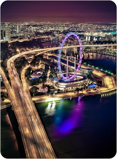 The Singapore Flyer is the world's tallest observation wheel - we still can't decide if it's more beautiful at night or in the day!