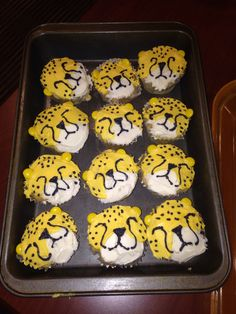 Creative cupcakes. They are cheetahs.