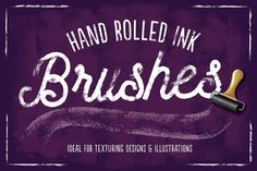 Hand Rolled Ink Brushes by The Artifex Forge on @creativemarket