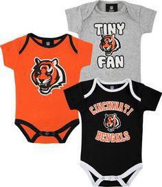 Cincinnati Bengals Infant Creeper Set #bengals #cincinnati #nfl