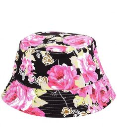 9e432965 Print Bucket Hat Hawaii Hat Cap Unisex Cotton Reversible Fisherman Sun Hat  Style 3-black CB183K40XTX