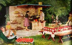 Image result for backyard luau vintage