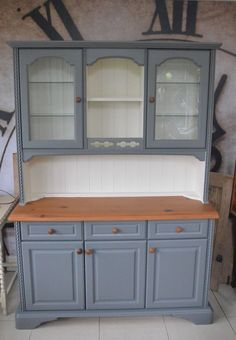 Ducal Farmhouse Dresser - Sideboard - Kitchen Unit - Cabinet Hand Painted in Home, Furniture & DIY, Furniture, Cabinets & Cupboards | eBay!