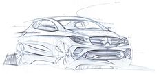 Mercedes benz sketch