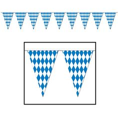"Oktoberfest Pennant Banner 17"" x 30'"