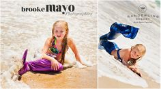 Mermaids, sister mermaids, Outer Banks portraits, Family photography, OBX, Beach Portraits, Sanderling Resort, Candace Owens, Brooke Mayo Photographers, www.brookemayo.com