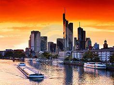 Sunset in Frankfurt by Europhotos, via Dreamstime