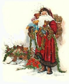 40 Best New Year Paintings Images Vintage Christmas