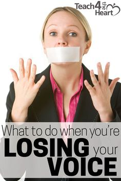 What to Do When You're Losing Your Voice
