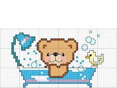 Gràficos de ponto cruz - Urso