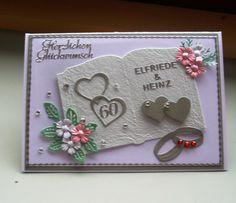 Cards Diy, Cardmaking, Fondant, Weddings, Diamond, Cards, Card Wedding, Parents, Handmade
