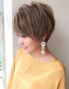 Pin on ショートヘア Stylish Short Hair, Short Grey Hair, Short Hair Cuts For Women, Short Hair Styles, Kawaii Hairstyles, Hairstyles Haircuts, Short Shaggy Haircuts, Blonde Hair Looks, Hair Brained