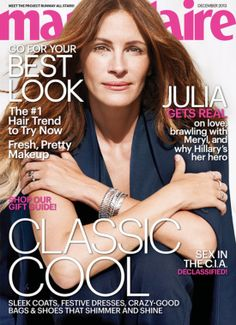 Julia Roberts graces the cover of Marie Claire's December 2013 issue