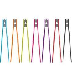 Colourworks Flexible Silicone Tweezer Tongs (7 colours) - Gourmet Kitchenware
