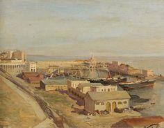 Peinture Port d'Alger - Vue du port d'Alger von Maxime Noire