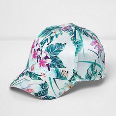 5289747c Mini girls white tropical print cap - Baby Girls Accessories - Mini Girls -  girls