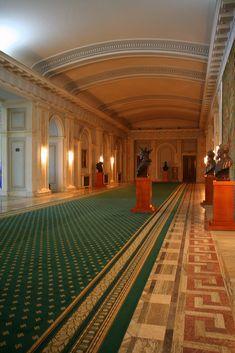 Hallway, Palace of Parliament, Bucharest, Romania