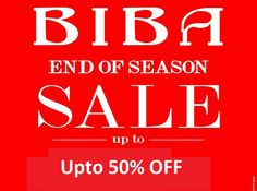 """""""BIBA Sale is here- Upto 50% OFF! Special preview from 30th June-3rd July'15"""""""