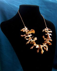 Statement necklace Collar necklace Golden shell by BBBsDesigns, $24.00