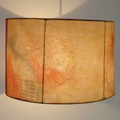 Sale Lamp shade Yellow Orange Hand Painted Silk by HaniH on Etsy, $75.00
