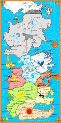 Map Westeros High Garden | House Targaryen - Have no true home but travel around Essos.
