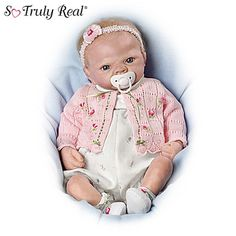 So Truly Reborn: The Forever Rose Emily Baby Doll by The Bradford Exchange