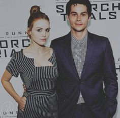"""""""Holland Roden and Dylan O'Brien attend the 'The Scorch Trials' premiere in NYC. Teen Wolf Stydia, Teen Wolf Mtv, Teen Wolf Dylan, Teen Wolf Cast, Dylan O'brien, Dylan And Britt, Styles And Lydia, Divas, Meninos Teen Wolf"""